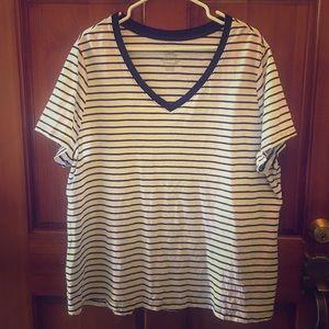 🖤FADED GLORY Black/White Striped T-Shirt